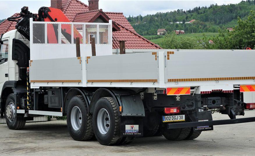 Volvo FM 400 Pritsche 6,50m + Kran*6×4*!