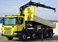 SCANIA P420 WYWROTKA 6,20m+HDS/PILOT*STAN BDB! 8×4