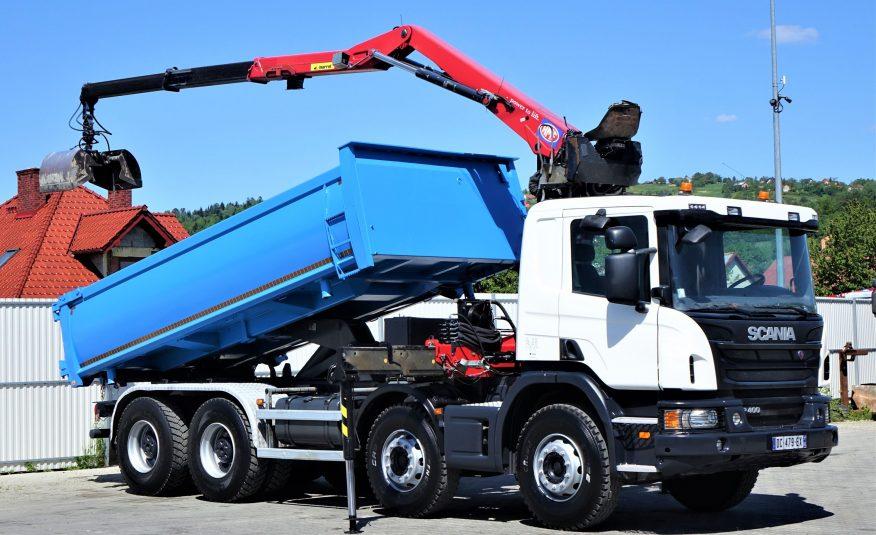 SCANIA P400 WYWROTKA 5,30m + HDS* EURO 6*STAN BDB!