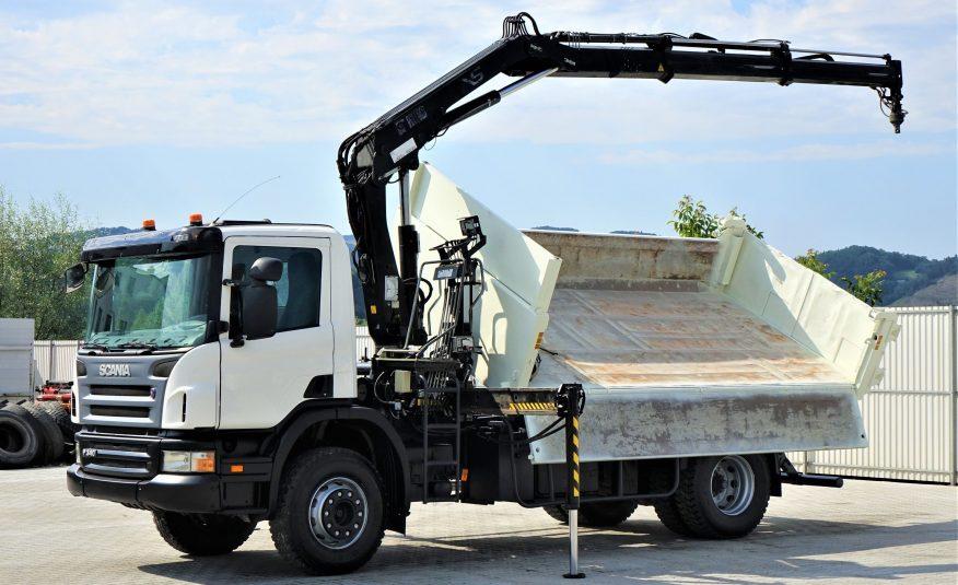 SCANIA P340 WYWROTKA 4,60m+ Bordmatic + HDS *4×2!
