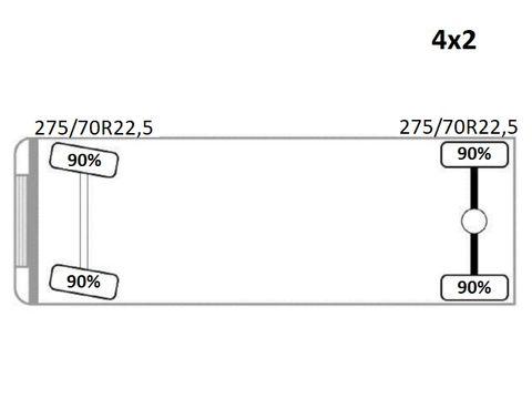 SCANIA 94 230 WYWROTKA 4,30m + HIAB 085-2*STAN BDB