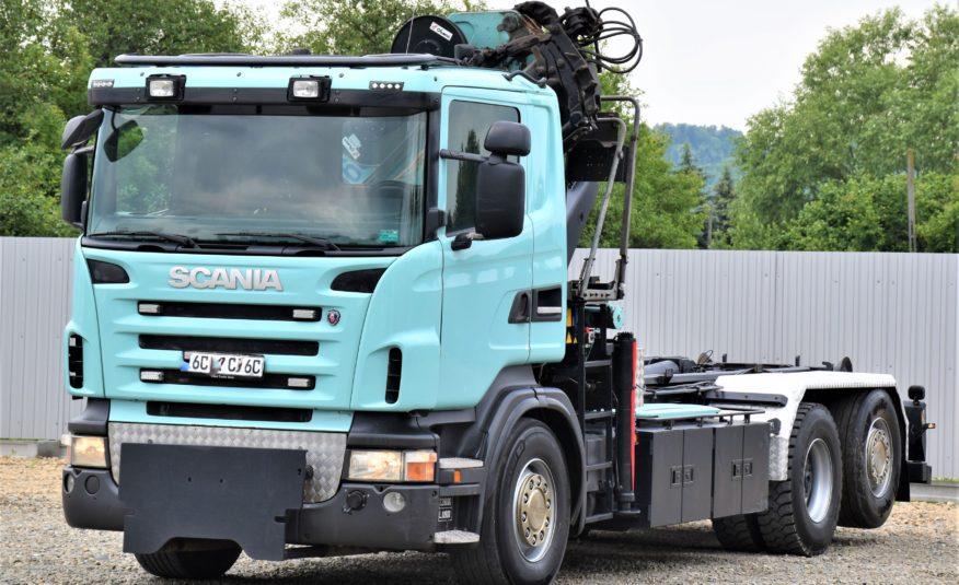 SCANIA R420 Hakowiec 5,40m+HMF 1680 K4 + PILOT !